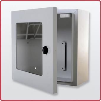 Defibtech Wandkasten mit Alarm Grau