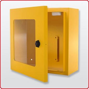 Defibtech Wandkasten mit Alarm Gelb