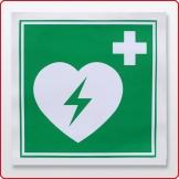 Aufkleber AED Defibrillator 20 x 20 cm