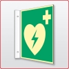 Fahnenschild AED Defibrillator 20 x 20 cm